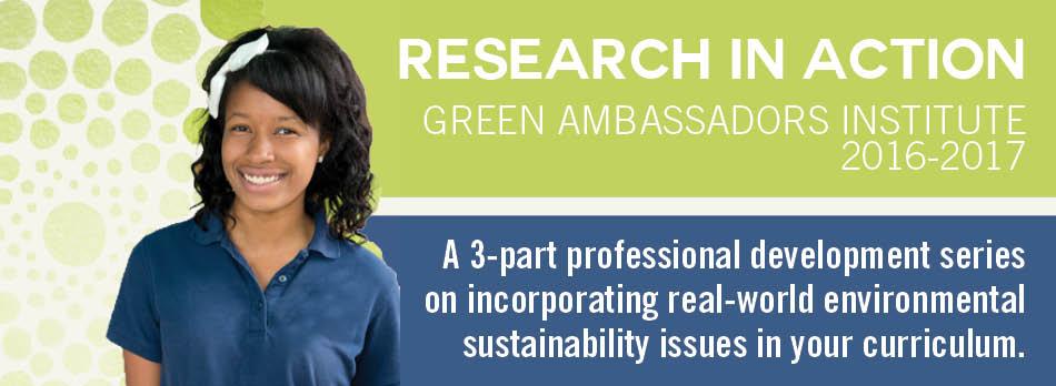 Header Green Ambassadors Institute 2016-17